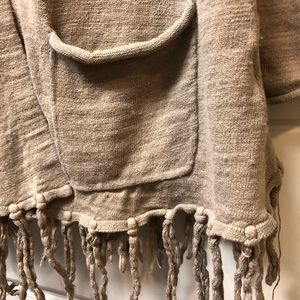 Lucky Brand Sweaters - Lucky Brand open long cardigan 2 pockets fringe XS